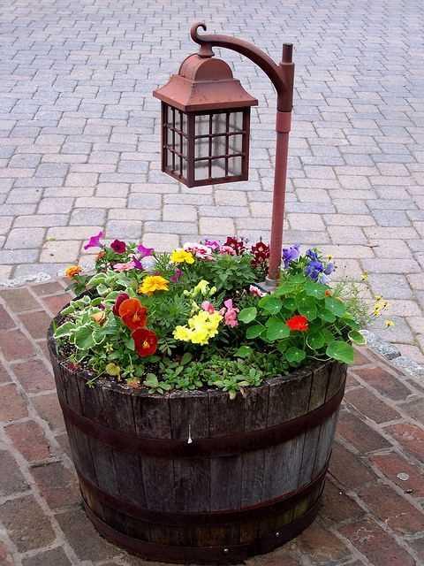 Lantern in Flower container