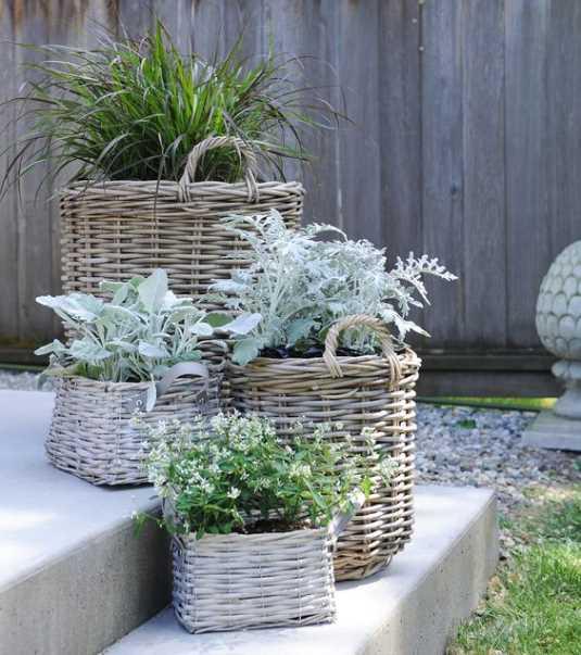 More Wicker Planters