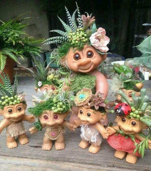 Troll Doll Planters