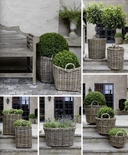 Wicker Plant Containers